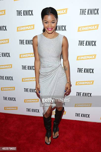 Singer/actress Teyana Taylor attends 'The Knick' special screening at The New York Academy Of Medicine on July 23 2014 in New York City