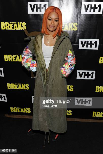 Singer/actress Teyana Taylor attends VH1s 'The Breaks' series premiere event at The Roxy Hotel on February 15 2017 in New York City