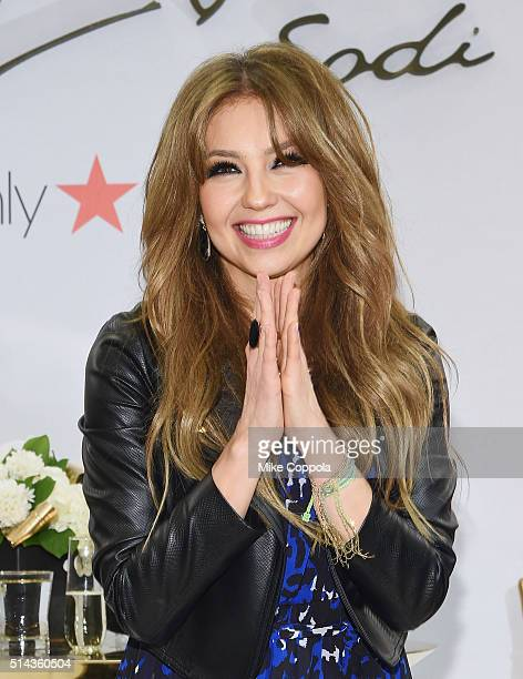 Singer/actress Thalia poses for a photo during the launch of her new clothing line 'Sodi' at Macy's Herald Square on March 8 2016 in New York City