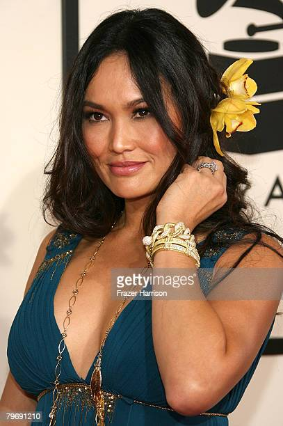 Singer/actress Tia Carrere arrives at the 50th annual Grammy awards held at the Staples Center on February 10 2008 in Los Angeles California