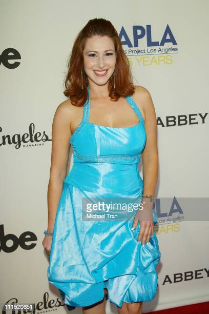 Singer/actress Tiffany arrives at the 7th Annual APLA Oscar viewing party held at The Abbey on February 24, 2008 in West Hollywood, California.