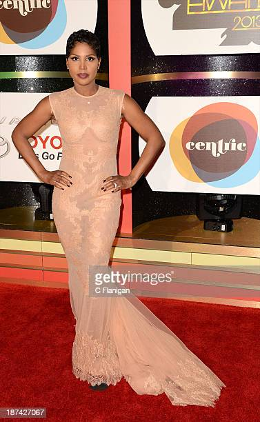 Singer/Actress Toni Braxton arrives at the 2013 BET Soul Train Awards at the Orleans Arena on November 8 2013 in Las Vegas Nevada