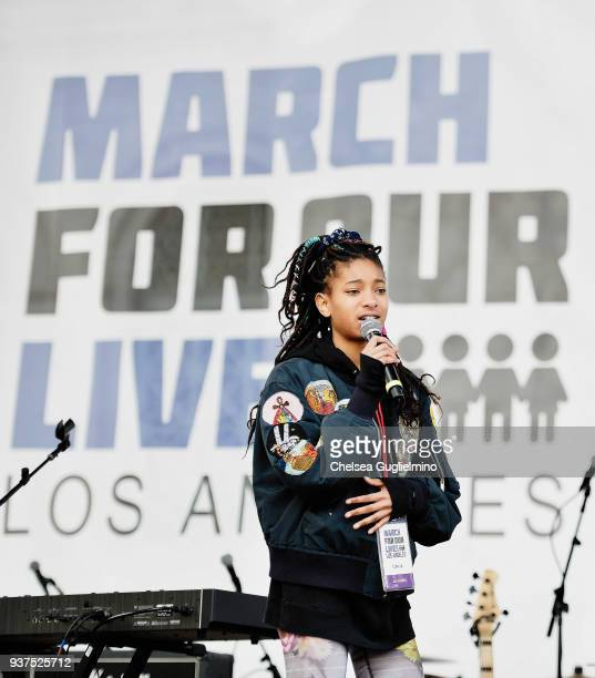 Singer/actress Willow Smith speaks at March For Our Lives Los Angeles on March 24, 2018 in Los Angeles, California.
