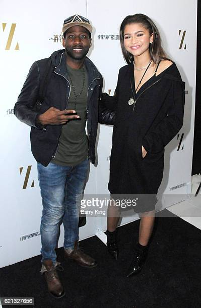 Singer/actress Zendaya and DeStorm Power aka Destorm attend the Daya by Zendaya Popup Shop at Known Gallery on November 5 2016 in Los Angeles...