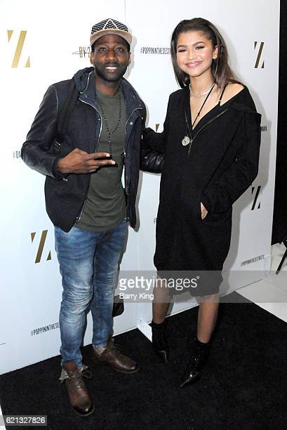 Singer/actress Zendaya and music artist DeStorm Power aka Destorm attend the Daya by Zendaya Popup Shop at Known Gallery on November 5 2016 in Los...