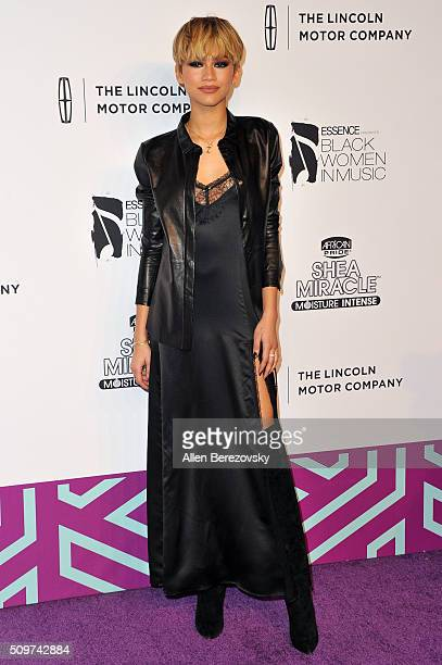 Singer/actress Zendaya attends ESSENCE 7th Annual Black Women In Music at Avalon Hollywood on February 11 2016 in Los Angeles California