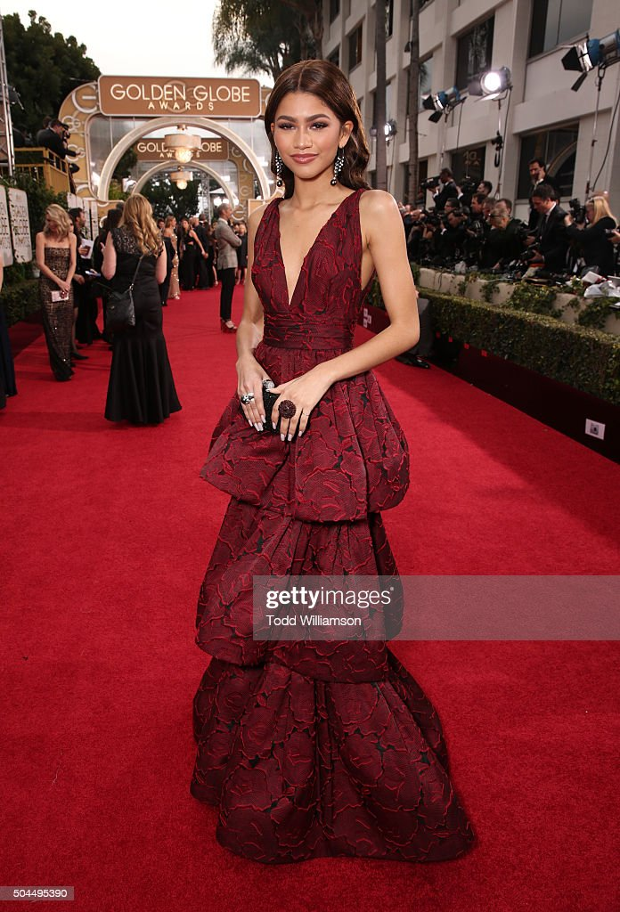 Singer/actress Zendaya attends the 73rd Annual Golden Globe Awards at The Beverly Hilton Hotel on January 10, 2016 in Beverly Hills, California.
