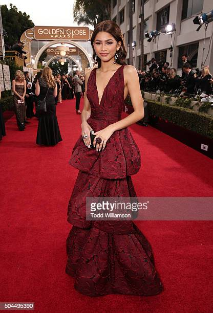Singer/actress Zendaya attends the 73rd Annual Golden Globe Awards at The Beverly Hilton Hotel on January 10 2016 in Beverly Hills California