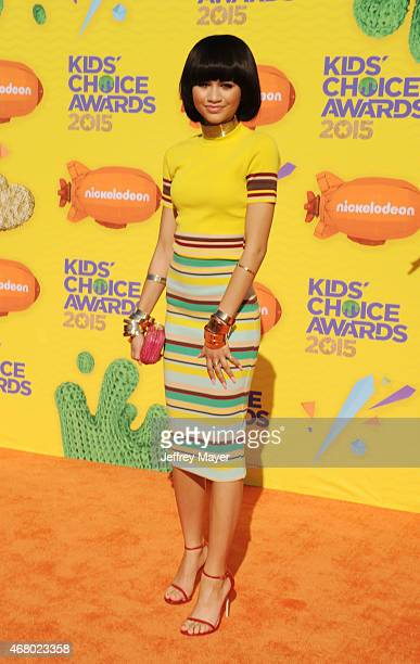 Singer/actress Zendaya Coleman attends Nickelodeon's 28th Annual Kids' Choice Awards held at The Forum on March 28 2015 in Inglewood California