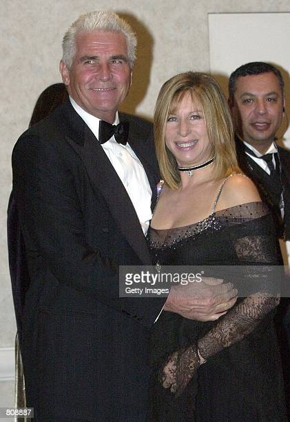 Singer/actress/director Barbra Streisand poses with her husband James Brolin after receiving the 2001 American Film Institute Life Achievement Award...