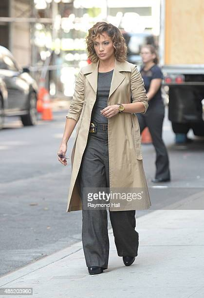 Singer/ActressJennifer Lopez is seen on the set of 'Shades of Blue' on August 25 2015 in New York City
