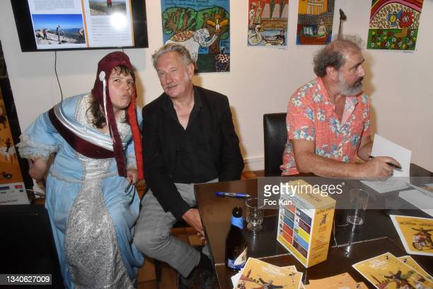 """Singer/actress/painter Candy Ming, directors Benoit Delepine and Gustave Kervern attend """"Le Cinema De Benoit Delepine Et Gustave Kervern"""" Book..."""
