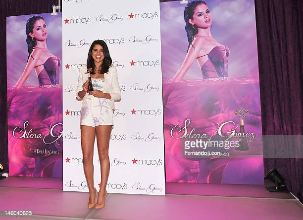 Singer/actresss Selena Gomez attends the Selena Gomez Fragrance Launch at Macy's Herald Square on June 9, 2012 in New York City.