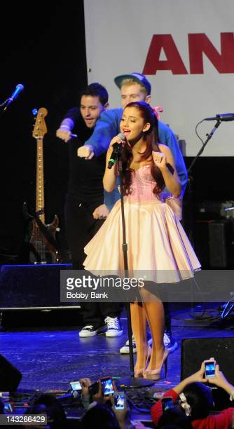 SingerAriana Grande attends the 13th Annual TJ Martell Foundation Family Day at Roseland Ballroom on April 22 2012 in New York City