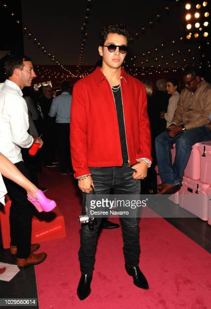 SingerAustin Mahone attends the Brandon Maxwell fashion show during New York Fashion Week at Classic Car Club on September 8 2018 in New York City