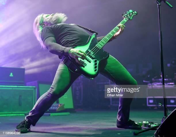 Singer/bassist Troy Sanders of Mastodon performs at The Joint inside the Hard Rock Hotel Casino on June 28 2019 in Las Vegas Nevada