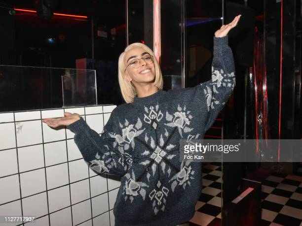 Singer/composer video artist Bilal Hassani from The Voice attends the Technikart Party at Le Petit Palace on February 05 2019 in Paris France