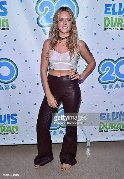 Singerd Tove Lo attends Elvis Duran's End Of Summer Bash at Hornblower Cruises Pier 15 on August 25 2016 in New York City