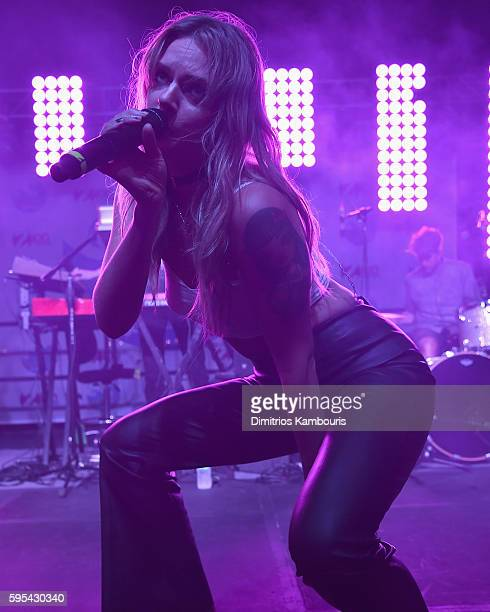 Singerd Tove Lo performs during Elvis Duran's End Of Summer Bash at Hornblower Cruises Pier 15 on August 25 2016 in New York City