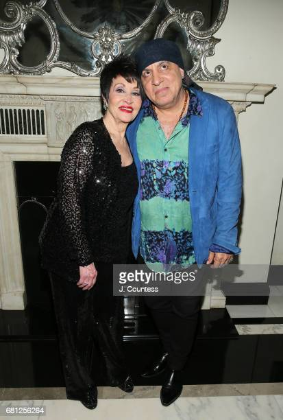 Singer/dancer Chita Rivera and musician Steven Van Zandt pose for a photo at Cafe Carlyle on May 9 2017 in New York City