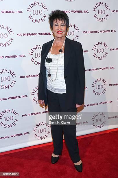 Singer/dancer Chita Rivera arrives for The 100 Hispanic Women National 19th Annual Awards Dinner held at Cipriani Wall Street on September 17 2015 in...