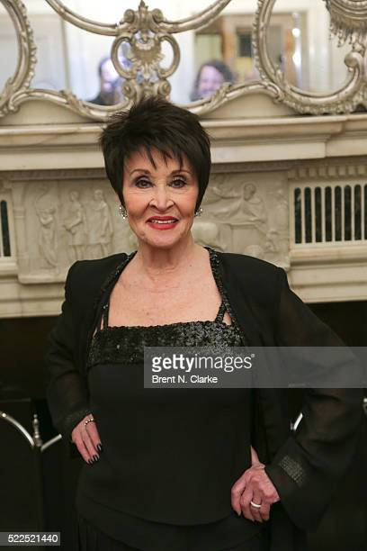Singer/dancer Chita Rivera poses for photographs following her debut performance at the Cafe Carlyle on April 19 2016 in New York City