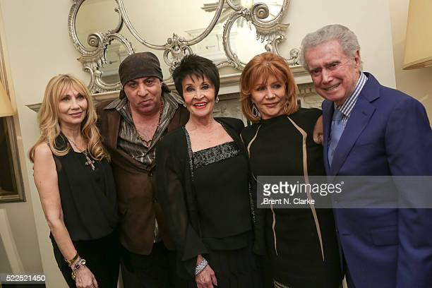 Singer/dancer Chita Rivera poses for photographs with Maureen Van Zandt Steven Van Zandt Joy Philbin and Regis Philbin following her debut...