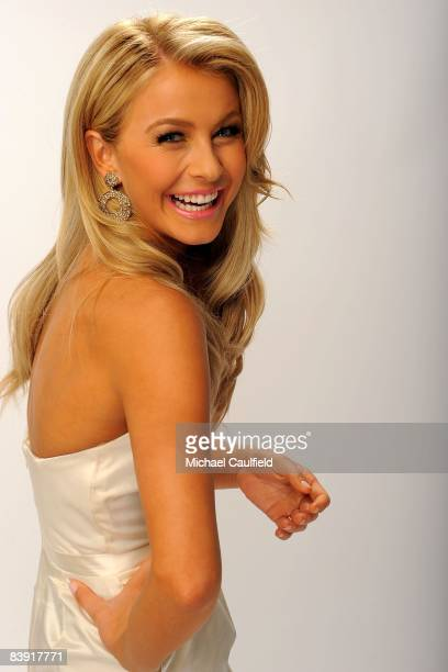 Singer/dancer Julianne Hough poses for a portrait during the 2008 American Music Awards held at Nokia Theatre LA LIVE on November 23 2008 in Los...