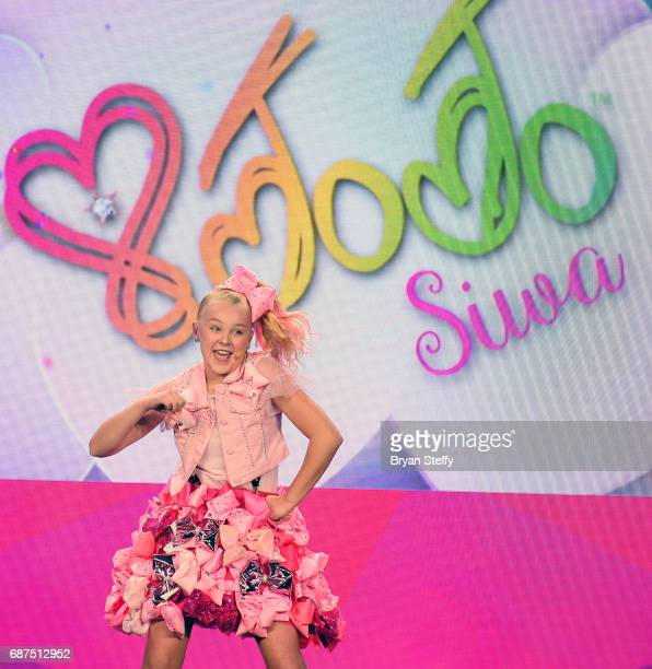 Singer/dancer/social media influencer JoJo Siwa performs during Nickelodeon's presentation at Licensing Expo 2017 at the Four Seasons Hotel Las Vegas...