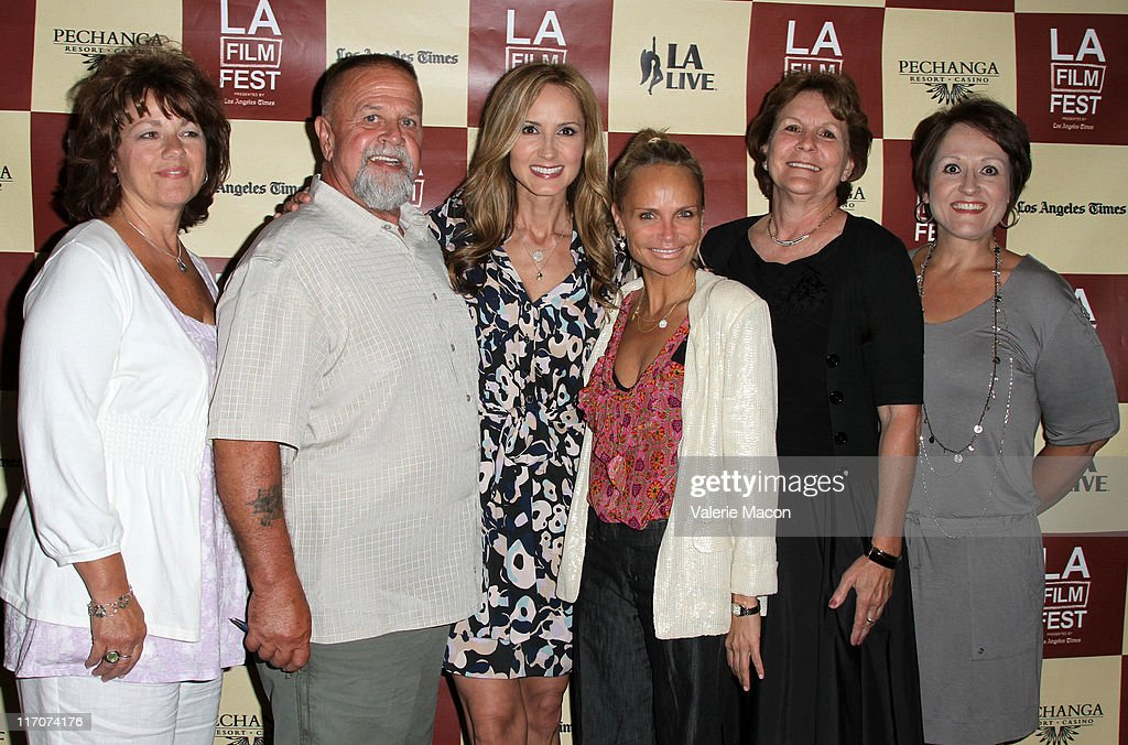 Singer/documentary subject Chely Wright (C), actress Kristin Chenoweth (3rd to R) and guests attend the 'Wish Me Away' Q & A during the 2011 Los Angeles Film Festival held at Regal Cinemas L.A. LIVE on June 20, 2011 in Los Angeles, California.