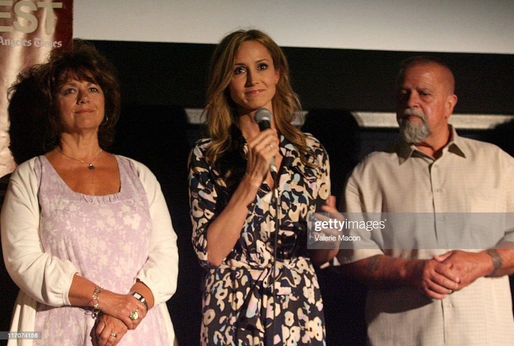 Singer/documentary subject Chely Wright (C) and family attend the 'Wish Me Away' Q & A during the 2011 Los Angeles Film Festival held at Regal Cinemas L.A. LIVE on June 20, 2011 in Los Angeles, California.