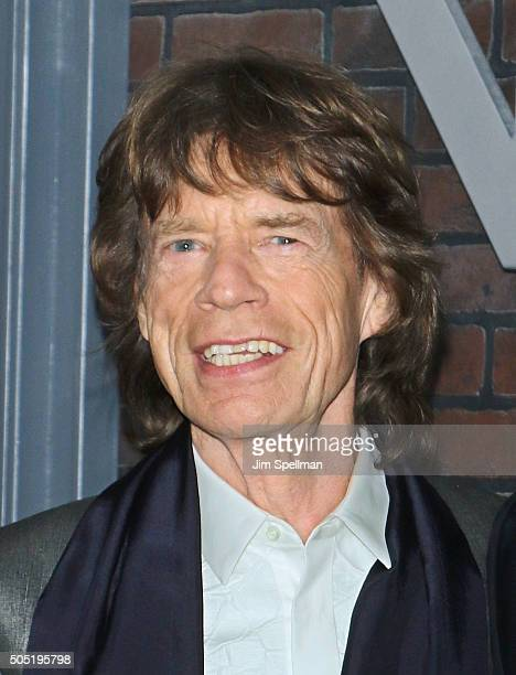 Singer/executive producer Mick Jagger attends the 'Vinyl' New York premiere at Ziegfeld Theatre on January 15 2016 in New York City