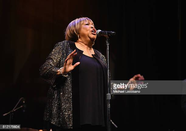 Singer/film subject Mavis Staples performs following the NY Premiere of HBO's Documentary film MAVIS at Florence Gould Hall on February 24 2016 in...