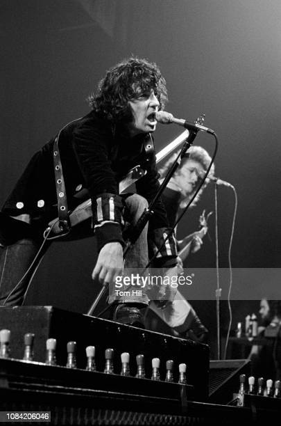 Singer-frontman Alex Harvey and guitarist Zal Cleminson of the Sensational Alex Harvey Band perform at Alex Cooley's Electric Ballroom on March 18,...
