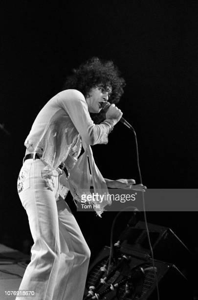 Singerfrontman Dan McCafferty of Scottish hardrock band Nazareth performs at the Omni Coliseum on February 6 1976 in Atlanta Georgia