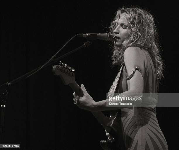 Singer/guitarist Ana Popovic performs at the 2014 Big Blues Bender at the Rivera Hotel & Casino on September 28, 2014 in Las Vegas, Nevada.