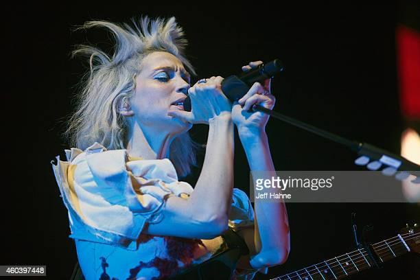Singer/guitarist Annie Clark aka St Vincent performs at Time Warner Cable Arena on December 12 2014 in Charlotte North Carolina
