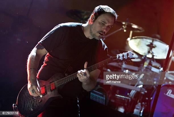 Singer/guitarist Benjamin Burnley of Breaking Benjamin performs at PNC Music Pavilion on October 5 2016 in Charlotte North Carolina