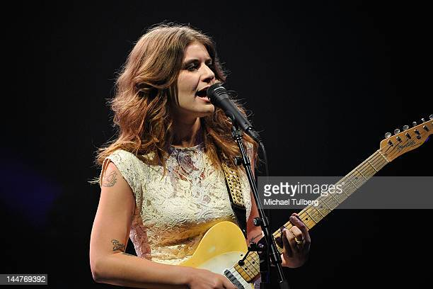 Singer/guitarist Bethany Cosentino of Best Coast performs live at The Wiltern on May 18 2012 in Los Angeles California
