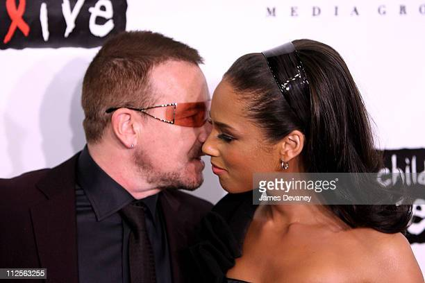 Singer/Guitarist Bono and Musician Alicia Keys arrive at Conde Nast Media Group's 4th Annual 'Black Ball' Concert for 'Keep A Child Alive' at...