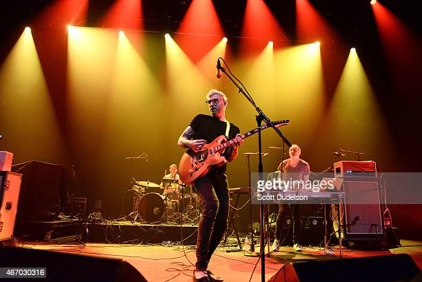 Singer/guitarist Brandon Rush of Priory performs onstage at the 101x showcase in the Moody Theater at Austin City Limits on March 19 2015 in Austin...