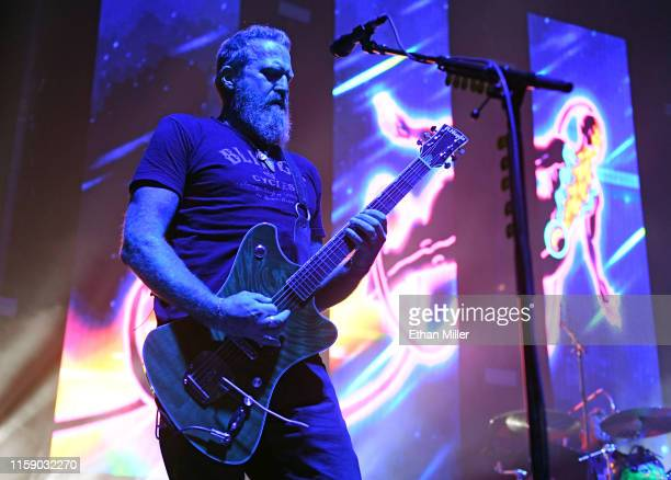 Singer/guitarist Brent Hinds of Mastodon performs at The Joint inside the Hard Rock Hotel Casino on June 28 2019 in Las Vegas Nevada
