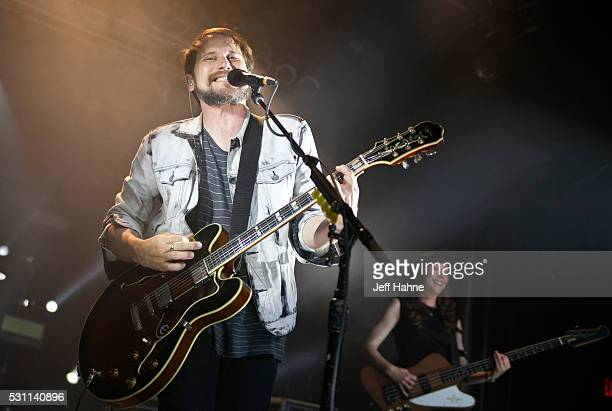 Singer/guitarist Brian Aubert of Silversun Pickups performs at The Fillmore Charlotte on May 12 2016 in Charlotte North Carolina