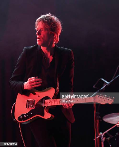 Singer/guitarist Britt Daniel of Spoon performs at the Intersect music festival at the Las Vegas Festival Grounds on December 7, 2019 in Las Vegas,...