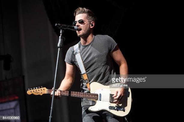 Singer/guitarist Chase Bryant performs at PNC Music Pavilion on September 8 2017 in Charlotte North Carolina