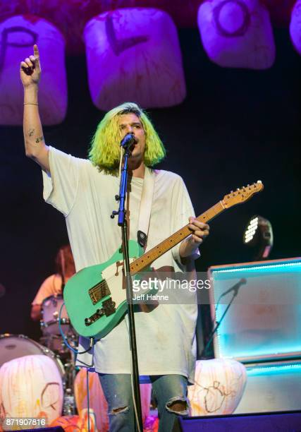 Singer/guitarist Christian Zucconi of Grouplove performs at Spectrum Center on November 8 2017 in Charlotte North Carolina