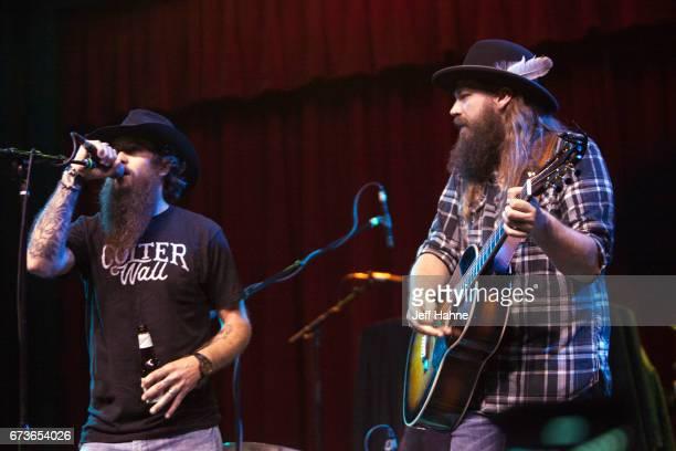 Singer/guitarist Cody Jinks and singer/guitarist Ward Davis perform at Neighborhood Theatre on April 26, 2017 in Charlotte, North Carolina.