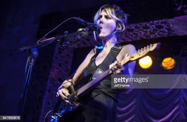 Singer/guitarist Ellie Rowsell of Wolf Alice performs at Visulite Theatre on April 17 2018 in Charlotte North Carolina