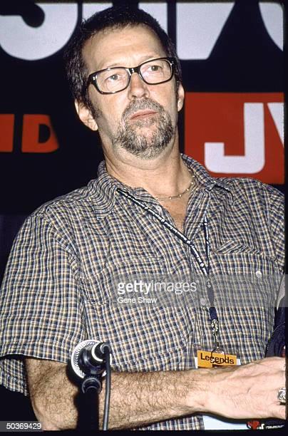 Singer/guitarist Eric Clapton at press confrence