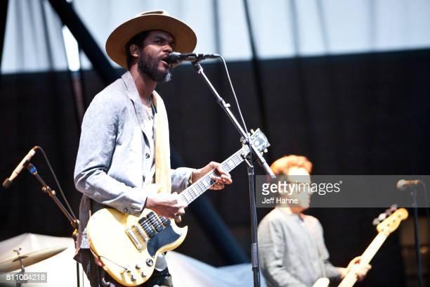 Singer/guitarist Gary Clark Jr performs at Charlotte Metro Credit Union Amphitheatre on July 8 2017 in Charlotte North Carolina
